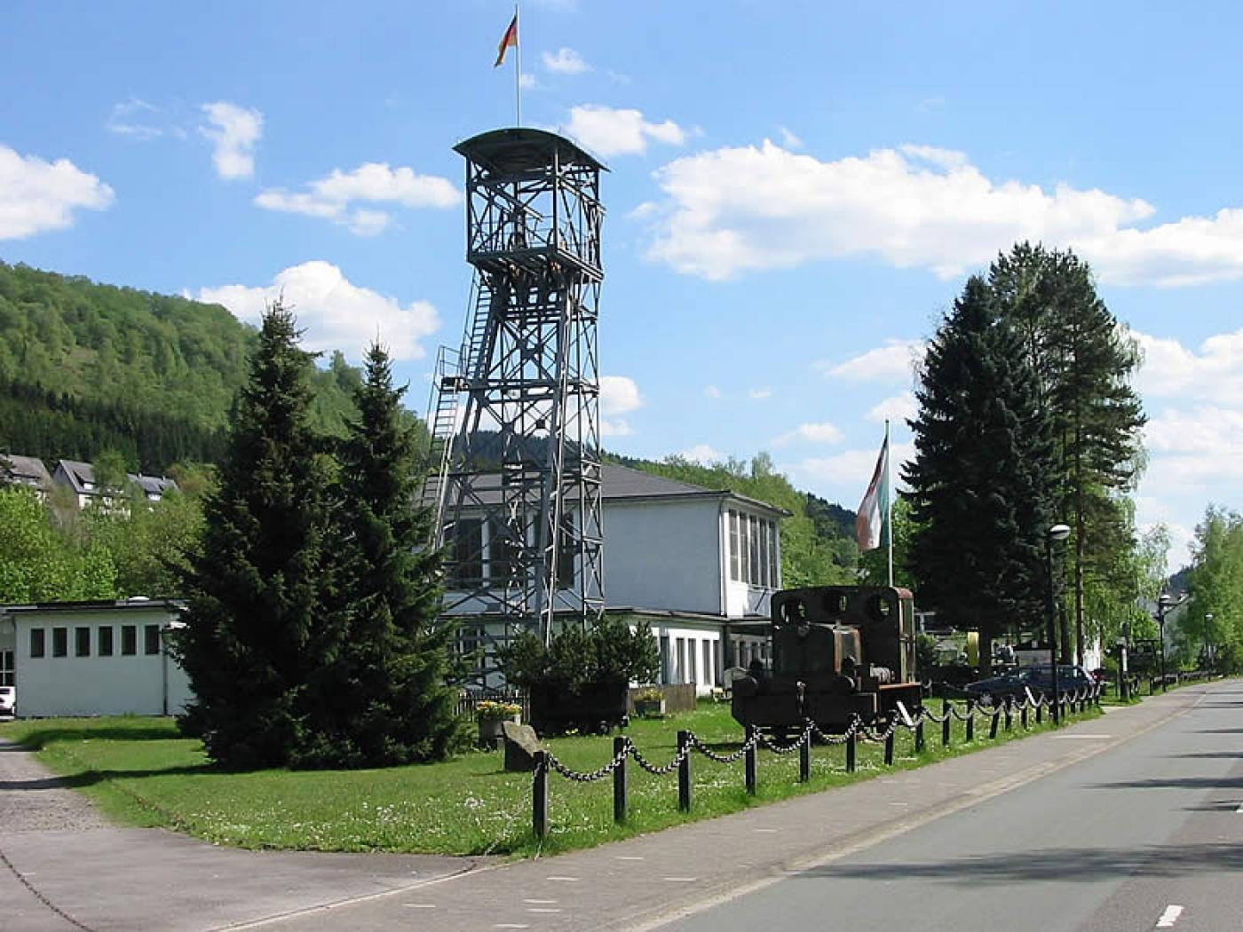 Förderturm Sauerländer Besucherbergwerk (Bestwig)