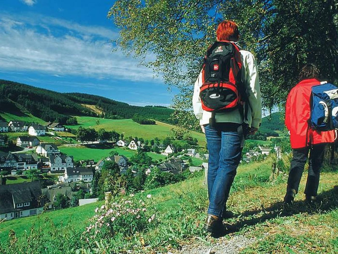 Wanderer bei Westfeld (Schmallenberg)