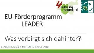 Kompaktinfos zu LEADER zum Download